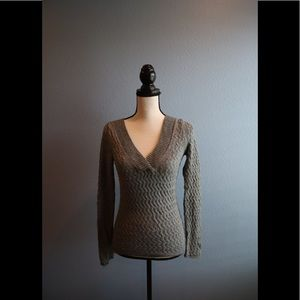 Banana Republic textured v-neck sweater